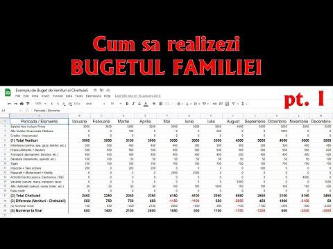 Cum sa Realizezi Bugetul Familiei - pt. I