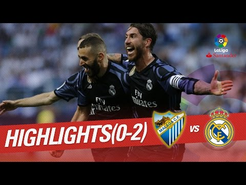 Resumen de Málaga CF vs Real Madrid (0-2) (видео)