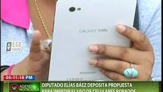 Diputado Elías Báez deposita propuesta para impedir el uso de celulares robados