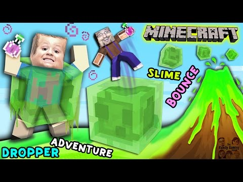 Minecraft Slime Bounce | FGTEEV Dropper Parkour Adventure Mini-Game Map (видео)