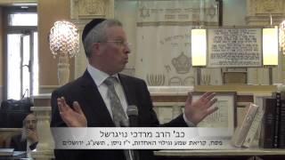 הרב מרדכי דוד נויגרשל – פסח, קריאת שמע וגילוי האחדות בעולם
