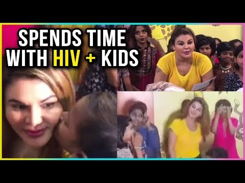 Rakhi Sawant Spends Time With HIV Positive Kids