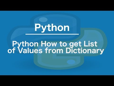Python how to get list of values from dictionary