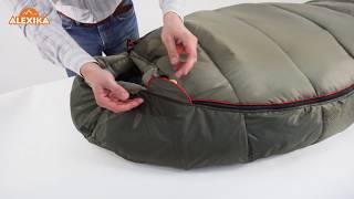Низкотемпературный спальный мешок-кокон для зимнего туризма.  Alexika Iceland
