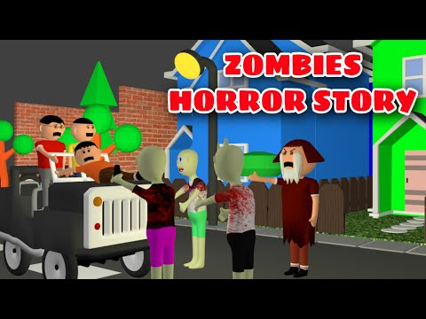 Zombies Horror Story Part 2 | Animated Movies | Cartoon Movies | Best Animated Movies | 3d Animation