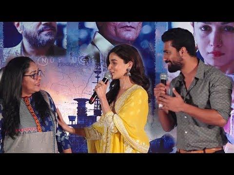 Alia Bhatt, Vicky Kaushal and Meghna Gulzar REACT