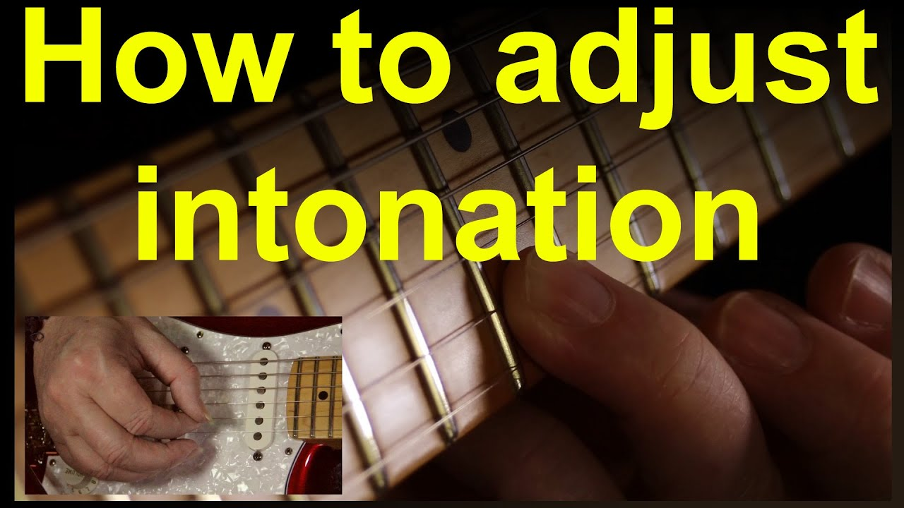 Guitar intonation, how to setup or adjust the intonation on any electric guitar.