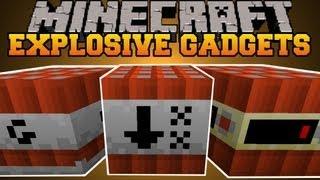 Minecraft : EXPLOSIVE GADGETS! (TNT, EXPLOSIVES, GADGETS) Gizmos Mod Showcase