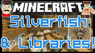 Minecraft 1.8 SILVERFISH&Secret Library! Treasure Too!