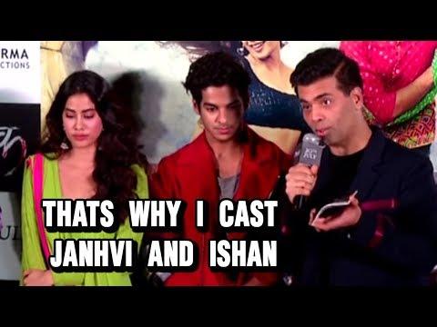 Karan Johar Revealed the Reason To Cast Janhvi Kap