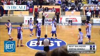 best balikesir  sinpaş denizli basket tbl playoff çeyrek final 4.maçi 19.05.2016