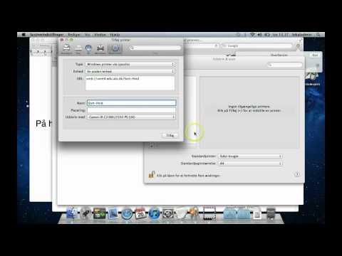 Instalation af printer på mac 2012
