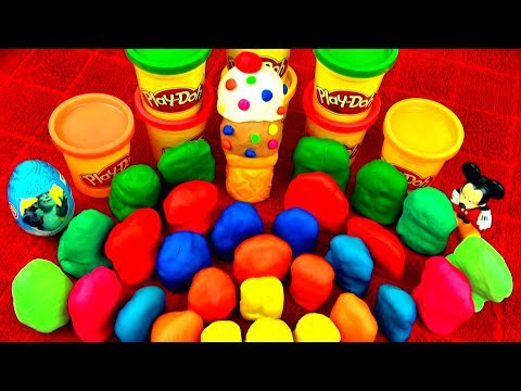 Play Doh Surprise Eggs Kinder Spongebob Cars 2 Toys Angry Birds Super Mario Cookie Monster Peppa Pig