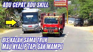 Video Mau Nyalip Tapi Gak Mampu, Bis DMI Diasepin Truk Fuso MP3, 3GP, MP4, WEBM, AVI, FLV September 2018