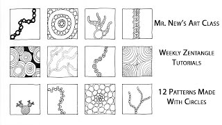 Learn something new with Mr. New! In today's Weekly Zentangle Tutorial, I make twelve patterns using nothing but circles. Four of these circle doodles are