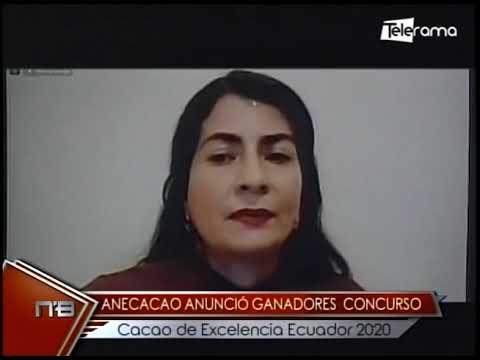 Anecacao anunció ganadores concurso Cacao de Excelencia Ecuador 2020
