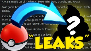 POKEMON SUN AND MOON LEAKS YOU WON'T BELIEVE by Verlisify
