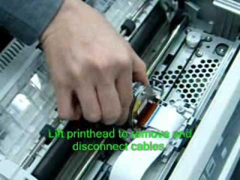 TallyGenicom 2440-2540 Printhead Removal