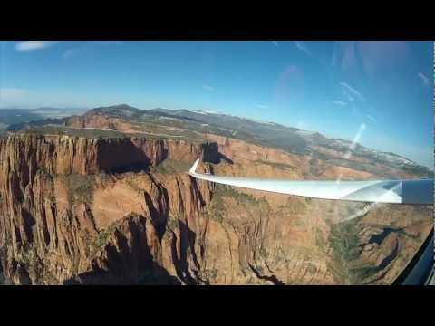 Sailplanes - Launching from Hurricane, Utah a few high performance sailplanes (gliders) explored the low altitude soaring potential of several southern Utah parks and lan...