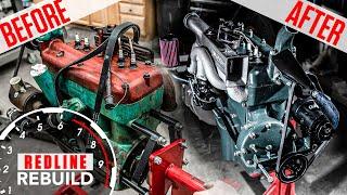 Ford Model A 4-cylinder engine rebuild time-lapse | Redline Rebuilds - S3E4