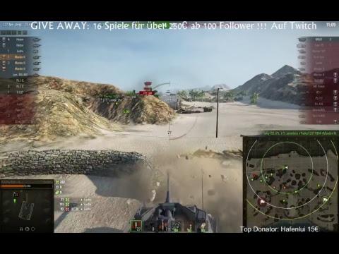 GIVE AWAY @100 FOLLOWS auf Twitch - World of Tanks ! :) https://www.twitch.tv/flatrategames