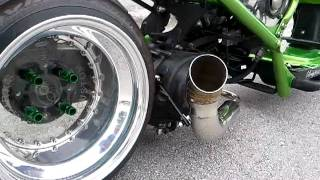 4. Dorbyworks custom honda ruckus gy6 exhaust