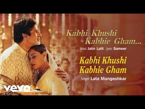 Kabhi Khushi Kabhie Gham Best Title Track - Shah Rukh Khan|Kajol|Lata Mangeshkar