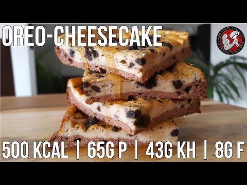 Oreo Cheesecake | Proteinreicher Fitness Kuchen