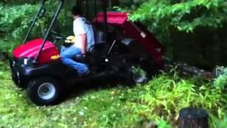 9. Kawasaki Mule hydraulic dump bed.