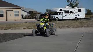 2. Boogie on his 2017 Polaris 110 Outlaw Bash Session