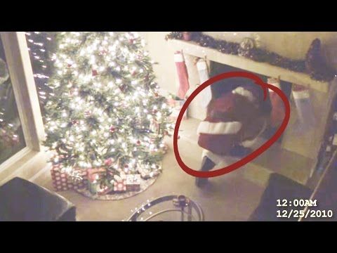 Top 10 Times Santa was Caught on Camera (видео)
