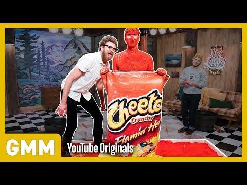 Human Flaming Hot Cheeto Challenge