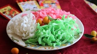 Mut Dua (Candied Coconut Ribbons) Tet Recipe