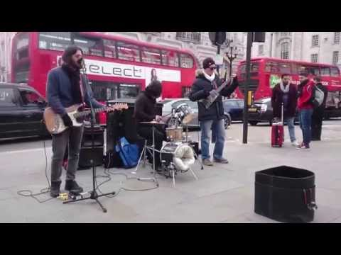 Unknown: REM, Losing my religion - busking in the str ...