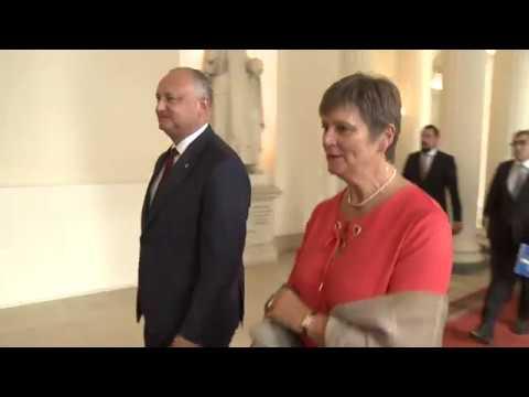 Глава государства провел встречу с Председателем Сената Королевства Бельгия