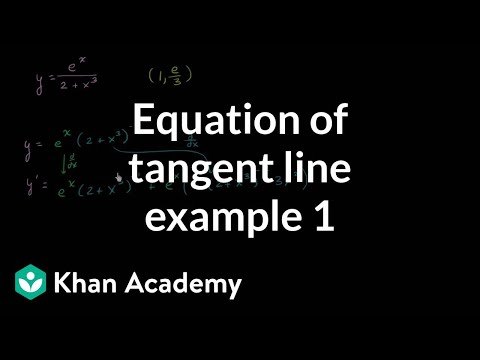 Equation of tangent line example 1 | Derivative applications | Differential Calculus | Khan Academy