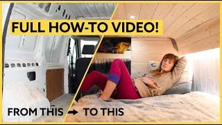 How to Convert a Van; 7 Day Conversion Challenge! by Nate Murphy
