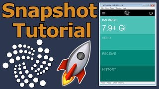 IOTA Snapshot Tutorial! - Iota Light Wallet