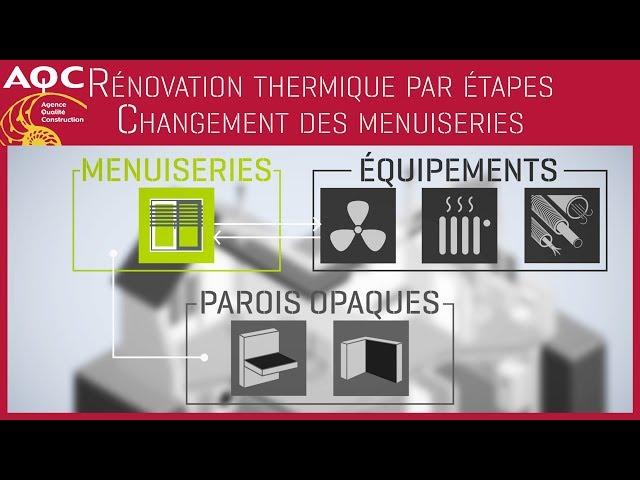 Rénovation thermique performante par étapes - Changement des menuiseries - AQC
