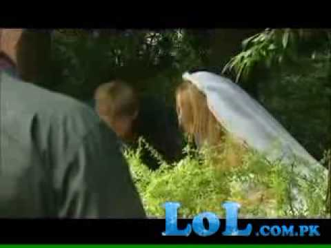 Wedding Bloopers Bride in bushes
