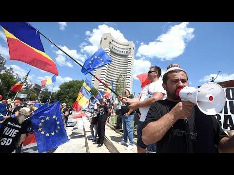 Βουκουρέστι: Στους δρόμους οι Ρουμάνοι της διασποράς