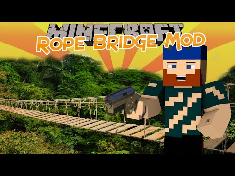 Minecraft | Mod Showcase | ROPE BRIDGE MOD