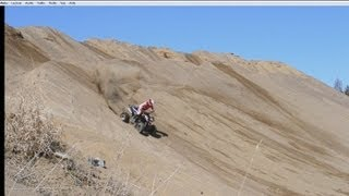2. honda 450r hrc Kawasaki kfx 450r Can-am Ds 450 xmx Polaris Outlaw mxr 450 Atv sand pit compilation