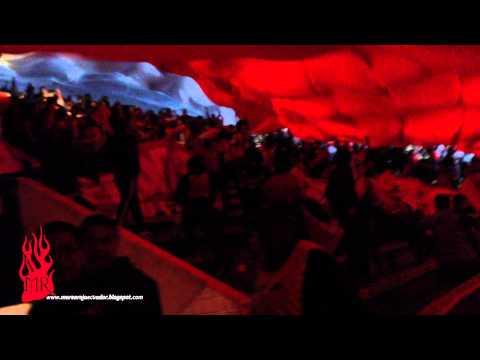 El Nacional vs liga - Caravana de la hinchada del campéon - Marea Roja - El Nacional