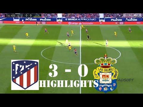 Atletico Madrid vs Las Palmas 3 - 0 LA LIGA ALL Goals and Highlights in HD 28/01/2018