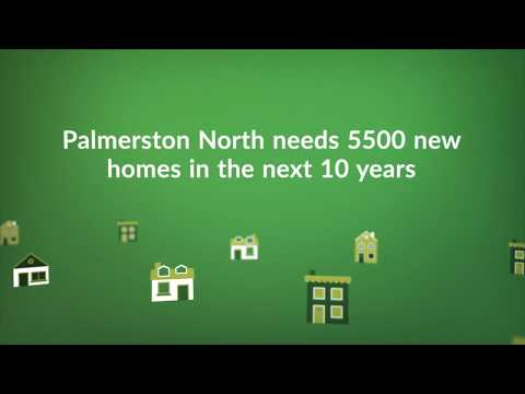 Photo shows YouTube placeholder image with text that says Palmerston North needs 5500 new homes in the next 10 years.