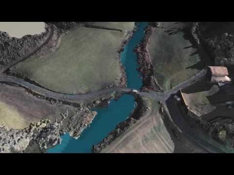 Turdine, photos prises par drone, simulation d'une crue