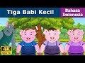Tiga Babi Kecil | Dongeng bahasa Indonesia | Dongeng anak | 4K UHD | Indonesian Fairy Tales