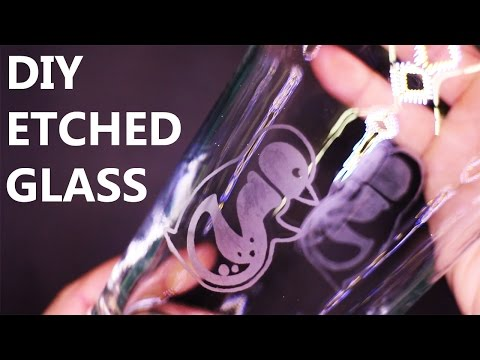 DIY Etched/Frosted Glass with Stencils (NO DREMEL!)
