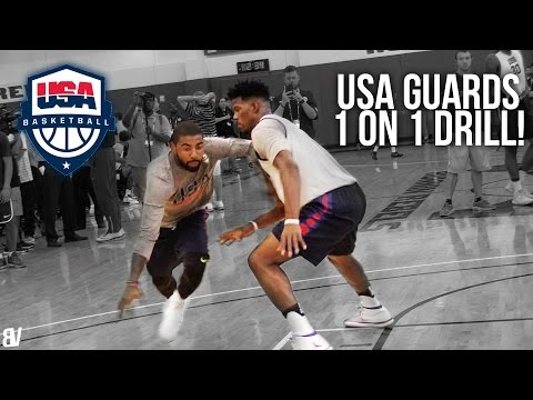 USA Basketball 1 on 1 Drill | Team USA Guards Go Head To Head (видео)